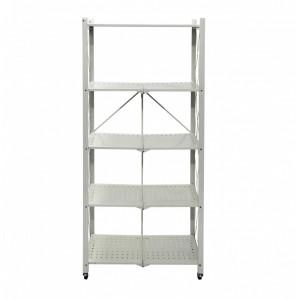Fine Living Foldable Storage Rack - White Metal 5 Layers