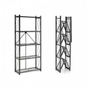 Fine Living Foldable Storage Rack - Black Metal 5 Layers