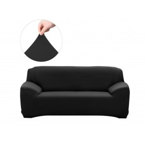 Fine Living 2 Seater Couch Cover -  Black