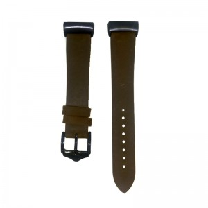 Fitbit Charge 3 Replacement Leather Strap Band - Dark Brown