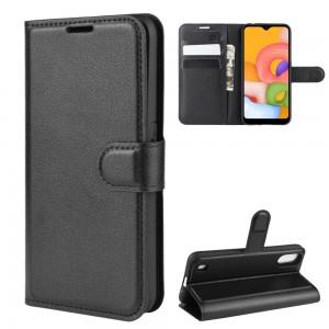 Tuff-Luv Essentials Book Style Case Samsung Galaxy A01 -  Black - New