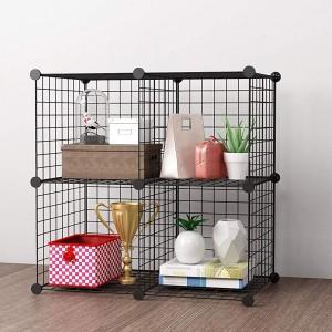 Wire 4 Cube Cabinet - Black
