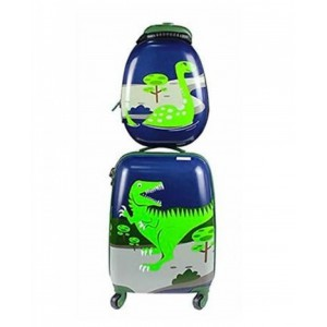 Side Kick - Kids 2pc Travel Case Set - Dino