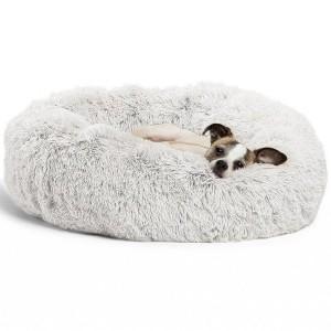 Plush Pet Beds 80cm - White