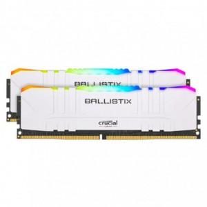 Ballistix RGB 16GBKit (2x8GB) DDR4 3600MHz Desktop Gaming Memory - White
