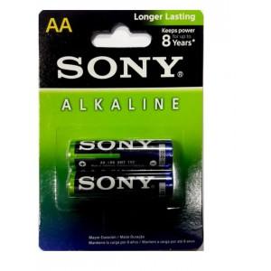 Sony Alkaline Long Lasting Batteries AA 2 Pieces