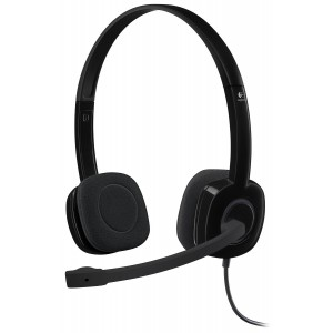 Logitech 3.5 mm Analog Stereo Headset H151 with Boom Microphone