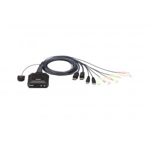 Aten 2-port USB DisplayPort Cable KVM Switch