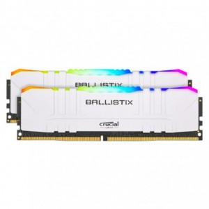 Ballistix RGB 32GBKit (2x16GB) DDR4 3200MHz Desktop Gaming Memory - White