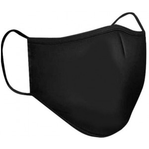 Clinic Gear Washable Solid School Mask Adults - Black