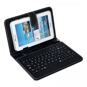 """Universal 7"""" Tablet Cover Case with USB Keyboard"""