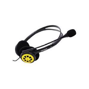 Microlab K250 Heaphone W/Mic - Black/Yellow