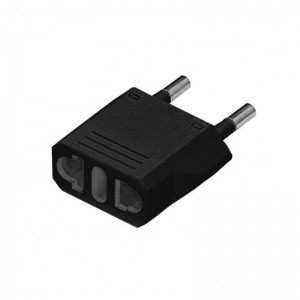 USA To European South African Power Plug Converter (2 Round-Pin Plug)