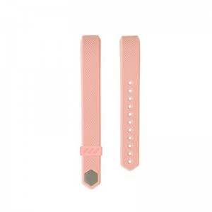 Fitbit Alta Silicon Band - Adjustable Replacement Strap - Baby Pink, Large