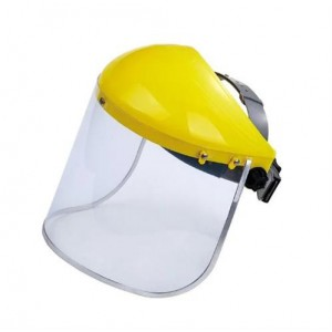 Casey Yellow Top Helmet Face Shield Anti Fog and Reusable - Clear Design