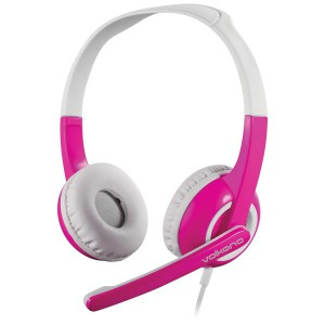 Volkano Kids Chat Junior Series Headset with Mic - Pink