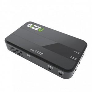 Gizzu 8800mAh Mini DC UPS with DC Splitter Cable - Black