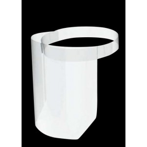 PET Curved Medical Visor Two-Piece Assembly