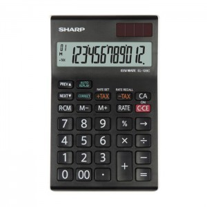 Sharp EL-128C-WH 12 Digit Desktop Calculator