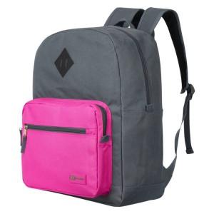 Quest Colourtime Backpack - Dark Grey/Pink