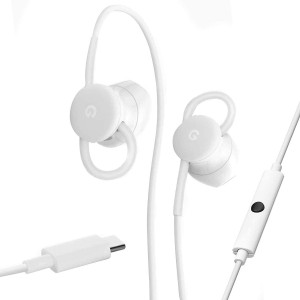 Google Earbuds USB-C Wired Digital Headset for Pixel Phones with Microphone and Volume Control