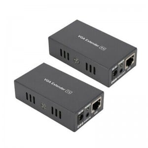 100m VGA Extender (over Cat-5e/6) with Audio Transmitter + Receiver Set
