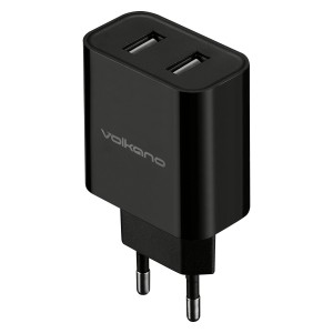 Volkano Cupla Series 3.1A Dual Output Charger - Black
