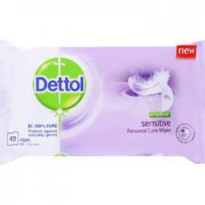Dettol Hygiene Wipes Sensitive 40's