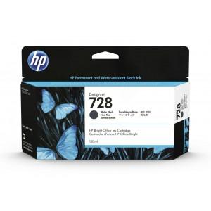 HP  728 130ml Matte Black Designjet Ink Cartridge for T830