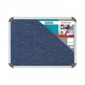 Bulletin Board Ribbed Aluminium Frame (600x450mm - Denim)