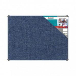 Bulletin Board Ribbed Aluminium Frame (1200x900mm - Denim)