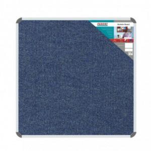 Bulletin Board Ribbed Aluminium Frame (1000x1000mm - Denim)