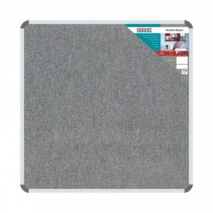 Bulletin Board Ribbed Aluminium Frame (1000x1000mm - Laurel)