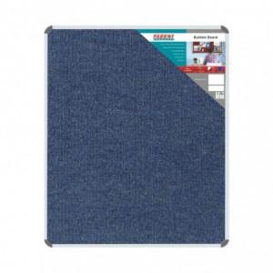 Bulletin Board Ribbed Aluminium Frame (1200x1000mm - Denim)