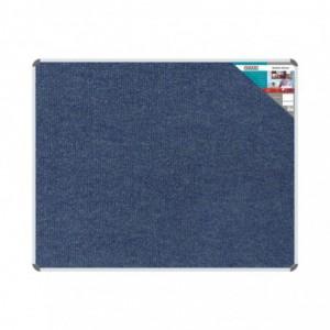 Bulletin Board Ribbed Aluminium Frame (1500x1200mm - Denim)