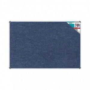 Bulletin Board Ribbed Aluminium Frame (1800x1200mm - Denim)