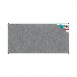 Bulletin Board Ribbed Aluminium Frame (1800x900mm - Laurel)