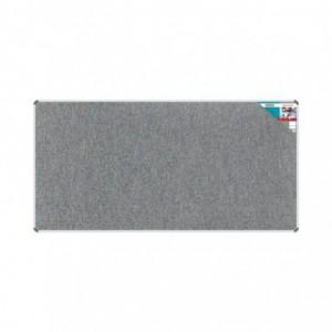 Bulletin Board Ribbed Aluminium Frame (2400x1200mm - Laurel)