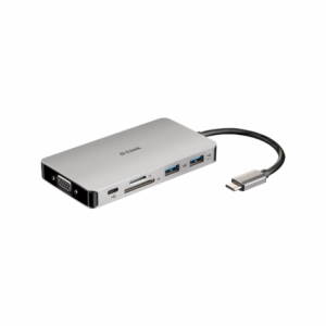 D-Link 9-in-1 USB-C Hub with HDMI/VGA/Ethernet/Card Reader/Power Delivery