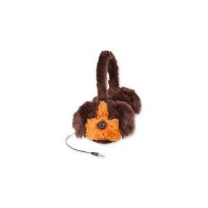 Animalz Furry Retractable Volume Limiting Over-the-Ear Headphones - Dog