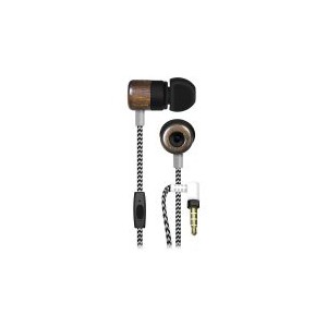 Maxell WUD-5 Wood Earphone with Microphone - HIP