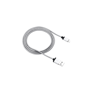 Canyon Apple 8-pin iPhone and iPad Braided Charge and Sync Cable - Grey