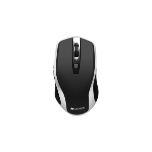 Canyon Wireless Rechargeable Mouse -Black -Silver