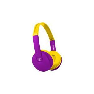 Maxell HP-BT350 Bluetooth  Kidz Small Size Headphones - Purple/Yellow