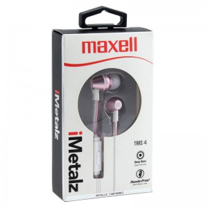 Maxell I-METALZ Metallic Earbuds - Pink