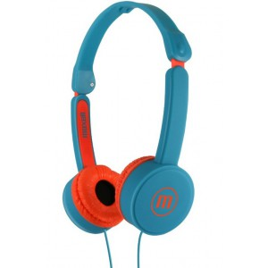 Maxell KZ-13 Small Size Foldable Headphones - Turquise