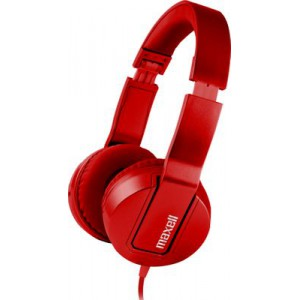 Maxell SMS-10 METALZ Headphone Mid Size - Ruby Red