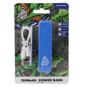 Pro Bass Engine Series 1200mAh Powerbank- Blue