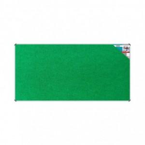 Bulletin Board Ribbed Aluminium Frame (2400x1200mm - Palm)