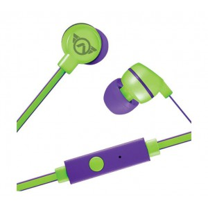 Amplify Sport Quick series Earbuds with Mic - Green/Purple